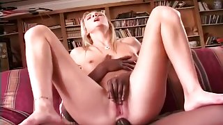 Cute Blonde Takes Black Cock Up Her Ass
