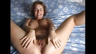 Unbelievable french milf masturbates on cam