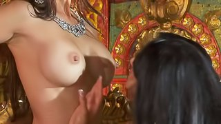 Katsuni, Kiara Mia and Nina Mercedez are three exotic black haired lesbians with perfect boobs and tight pussies. They have a wonderful time playing with each others tight holes in lesbian 3some