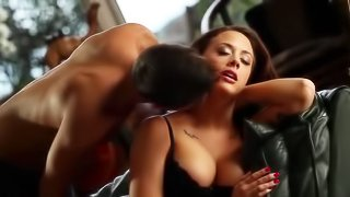 Hot girl is getting banged wildly