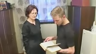 homemade granny with young guy hot