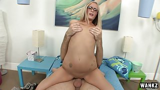 Page Adams & Mike Hash in Page Adams Gets Fucked In Her Dorm Room By Mike Hash - TightHolesBigPoles