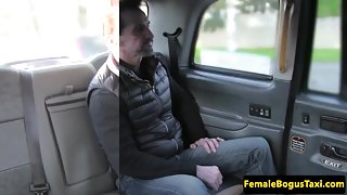 lady taxidriver facialized after screwing