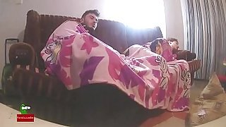 Sex under sheets.Homemade voyeur taped my amateur gf with a hidden spycam IV082