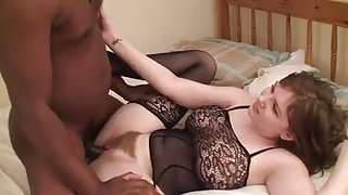 Interracial hairy brunette