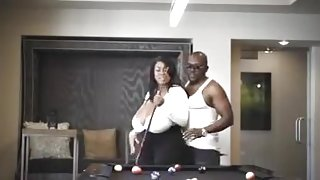 EBONY HUGE UDDERED GODDESS TAKES A RISK